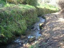 Adecuación do regato de Reigoso á altura de A Ponte.