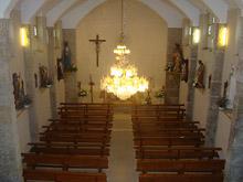 Interior da Igrexa de Barral
