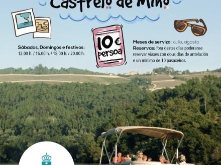 Catamarán Turístico. Navega en Castrelo de Miño.