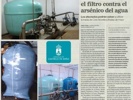Castrelo de Miño instala o filtro contra o  arsénico da auga.