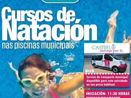 O 1 de agosto comezarán os cursos de natación na piscina municipal