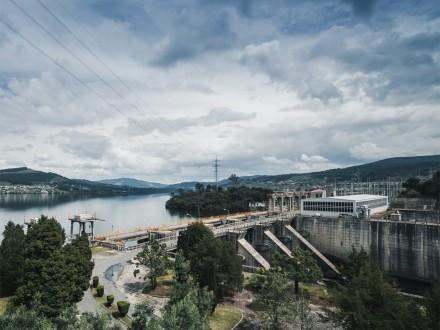Proba de sirenas na presa de Castrelo
