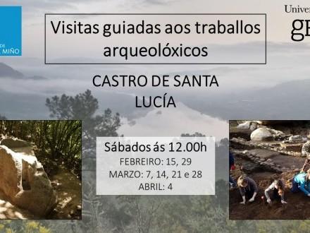 VISITAS GUIADAS AOS TRABALLOS DO CASTRO DA SANTA LUCÍA