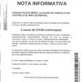 NOTA INFORMATIVA: Actualización datos COVID