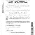 NOTA INFORMATIVA: Actualización datos COVID.