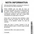 ricións de consumo de auga na ZA Santo Estevo