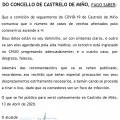 NOTA INFORMATIVA: ACTUALIZACIÓN SITUACIÓN COVID-19